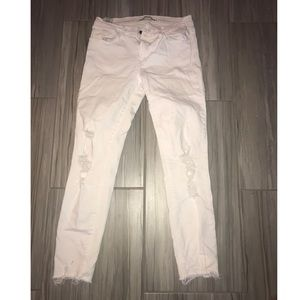 J Brand White Distressed Jeans
